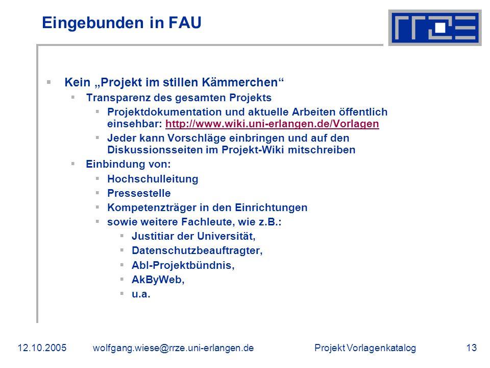 """Eingebunden in FAU Kein """"Projekt im stillen Kämmerchen"""