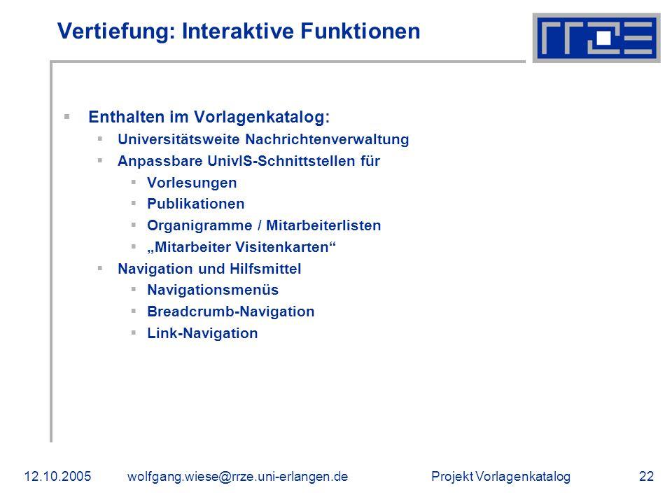 Vertiefung: Interaktive Funktionen