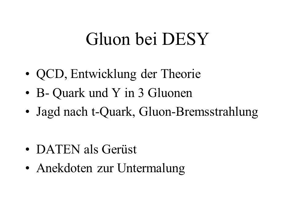 Gluon bei DESY QCD, Entwicklung der Theorie