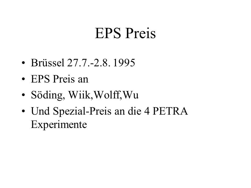 EPS Preis Brüssel 27.7.-2.8. 1995 EPS Preis an Söding, Wiik,Wolff,Wu