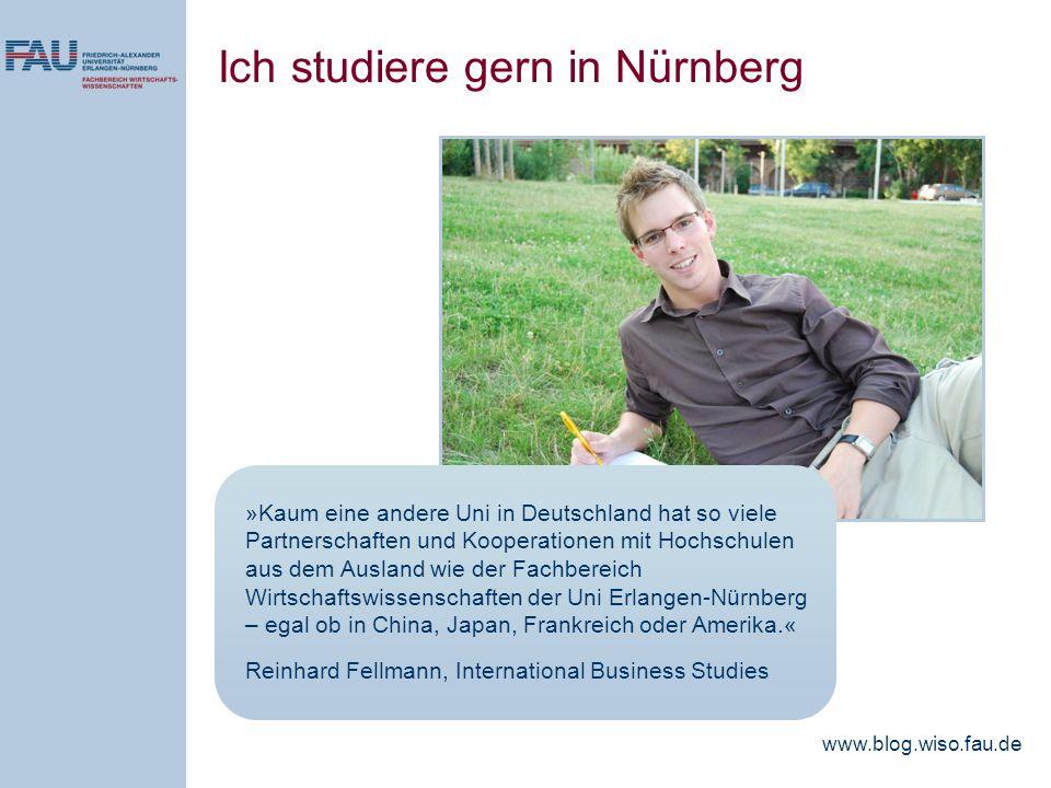 Ich studiere gern in Nürnberg
