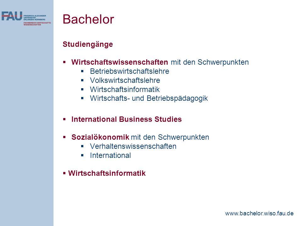 Bachelor Studiengänge Wirtschaftswissenschaften mit den Schwerpunkten