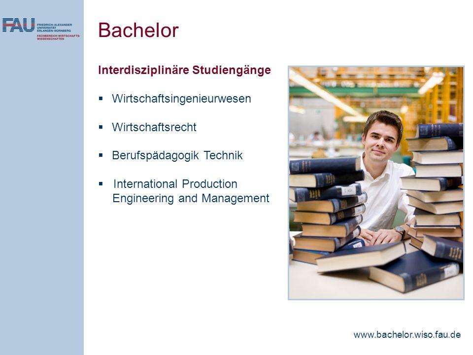 Bachelor Interdisziplinäre Studiengänge Wirtschaftsingenieurwesen