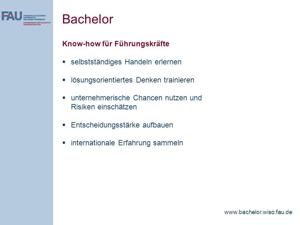 Bachelor Know-how für Führungskräfte selbstständiges Handeln erlernen
