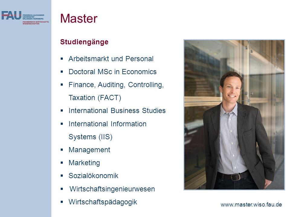Master Studiengänge Arbeitsmarkt und Personal