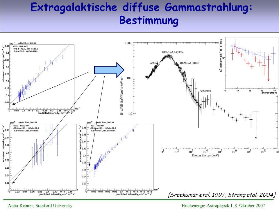 Extragalaktische diffuse Gammastrahlung: Bestimmung