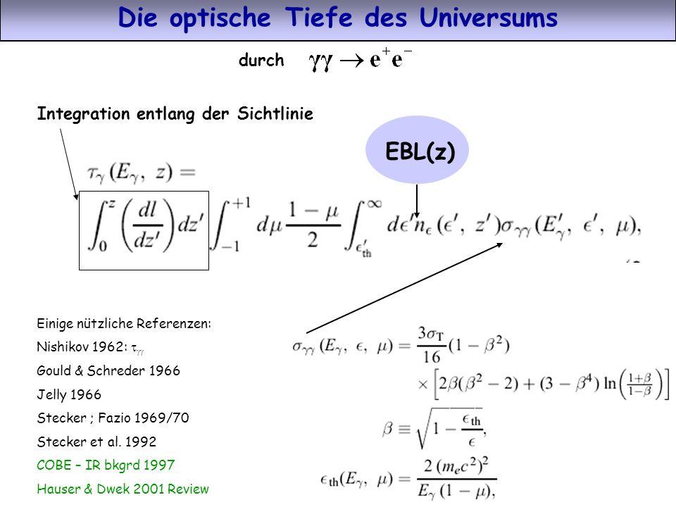 Die optische Tiefe des Universums
