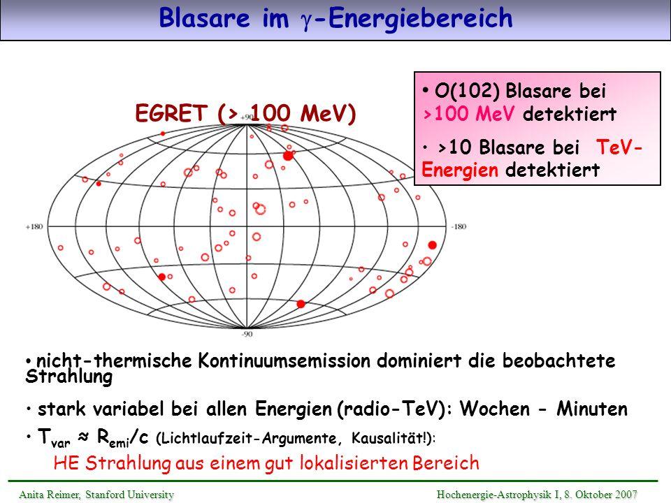 Blasare im g-Energiebereich