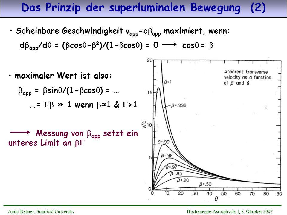 Das Prinzip der superluminalen Bewegung (2)