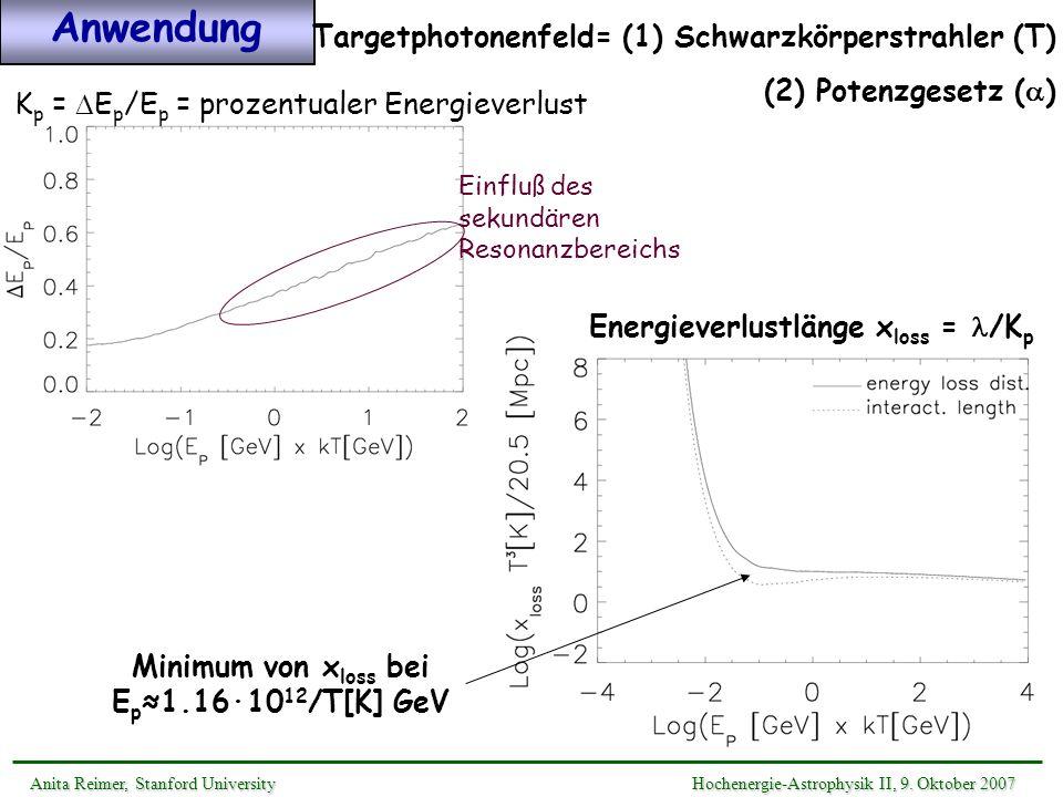 Energieverlustlänge xloss = l/Kp
