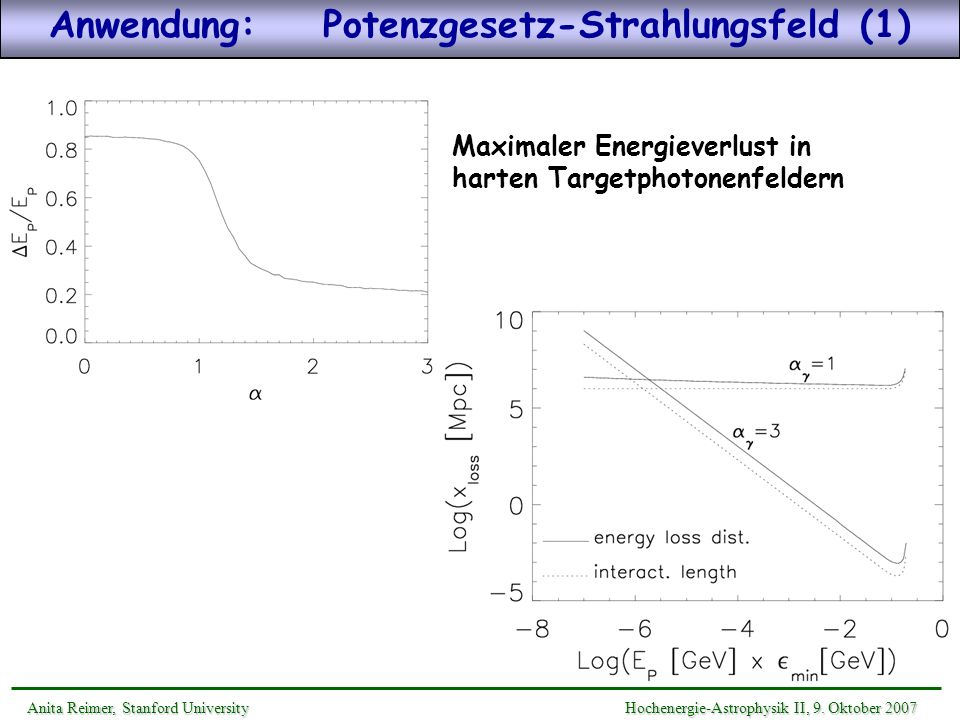 Anwendung: Potenzgesetz-Strahlungsfeld (1)