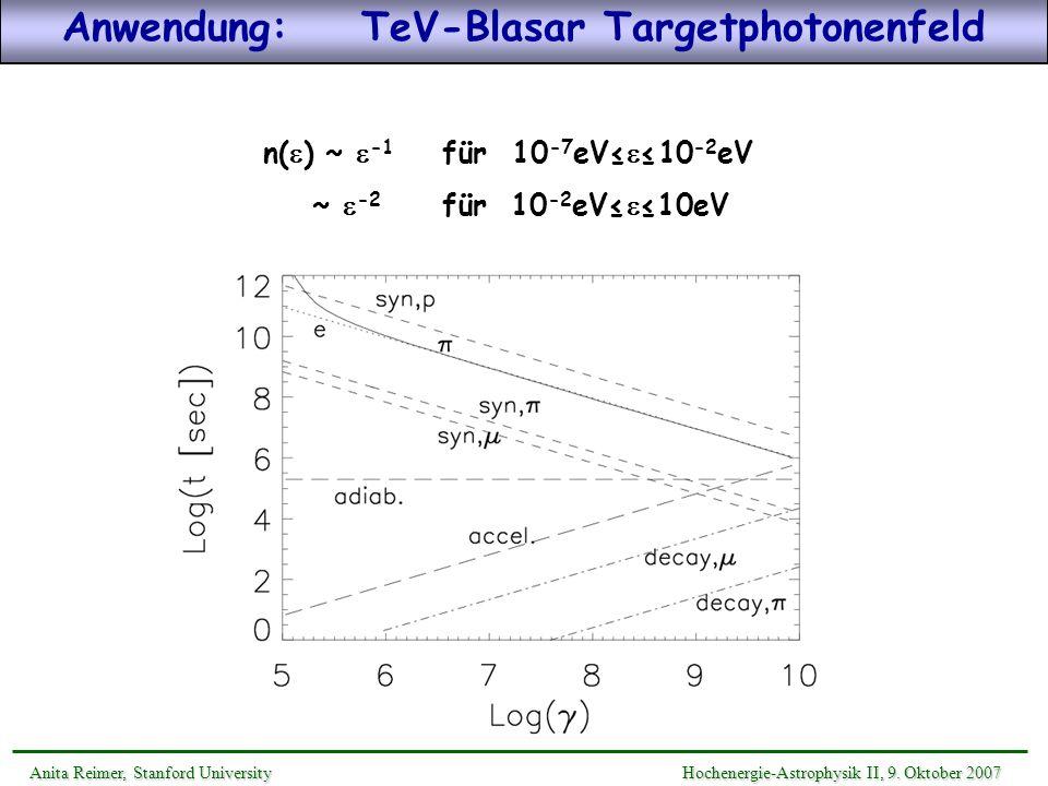 Anwendung: TeV-Blasar Targetphotonenfeld