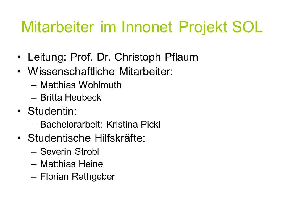 Mitarbeiter im Innonet Projekt SOL