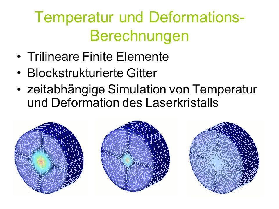 Temperatur und Deformations-Berechnungen