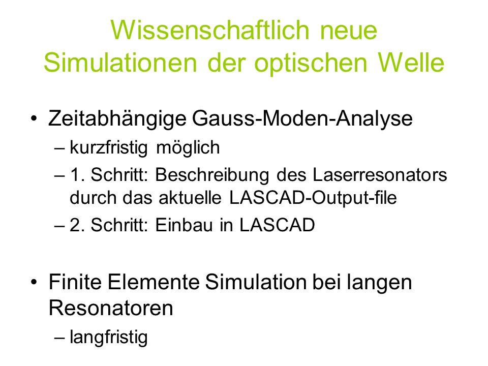 Wissenschaftlich neue Simulationen der optischen Welle
