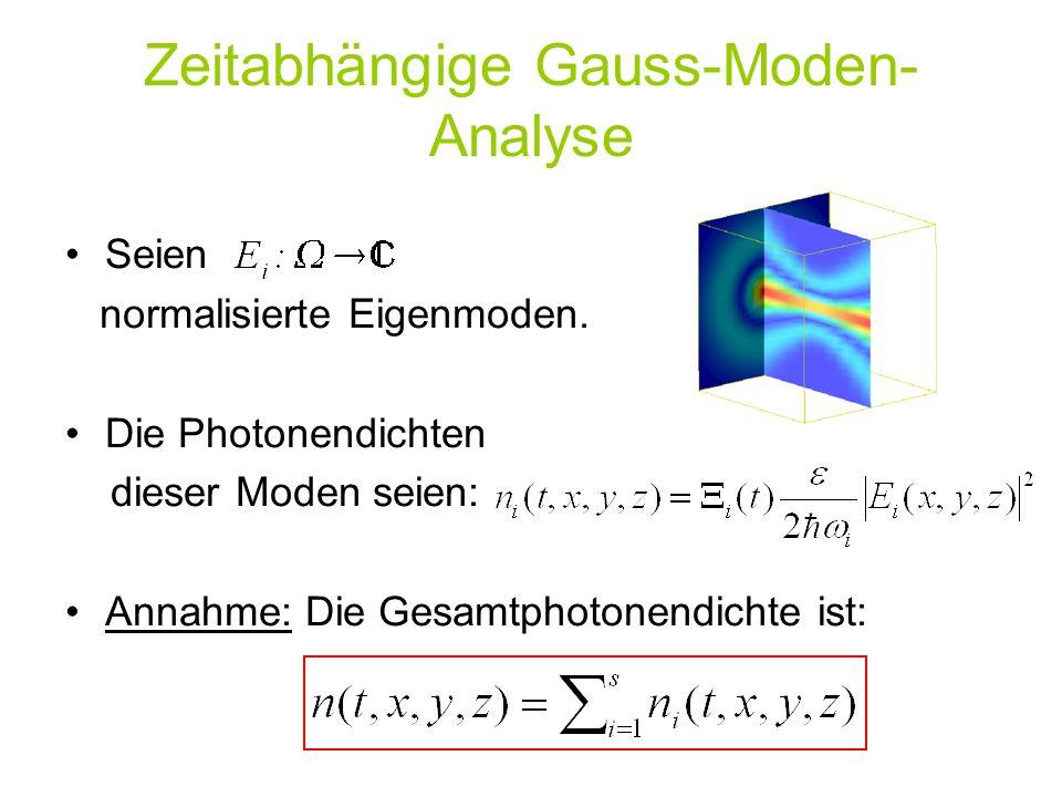 Zeitabhängige Gauss-Moden-Analyse