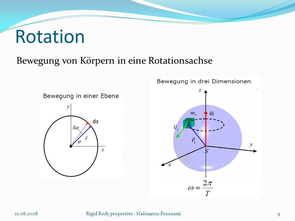 Rotation Bewegung von Körpern in eine Rotationsachse 10.06.2008