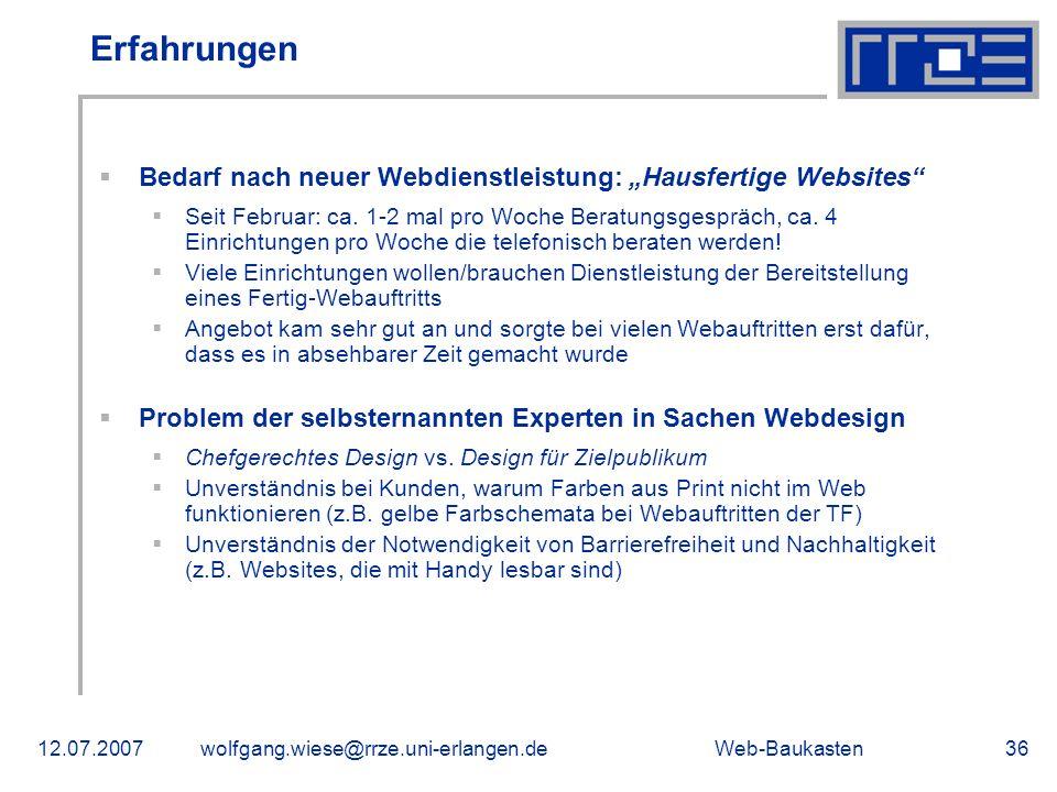 """Erfahrungen Bedarf nach neuer Webdienstleistung: """"Hausfertige Websites"""