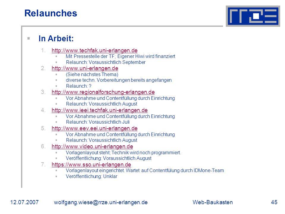 Relaunches In Arbeit: http://www.techfak.uni-erlangen.de