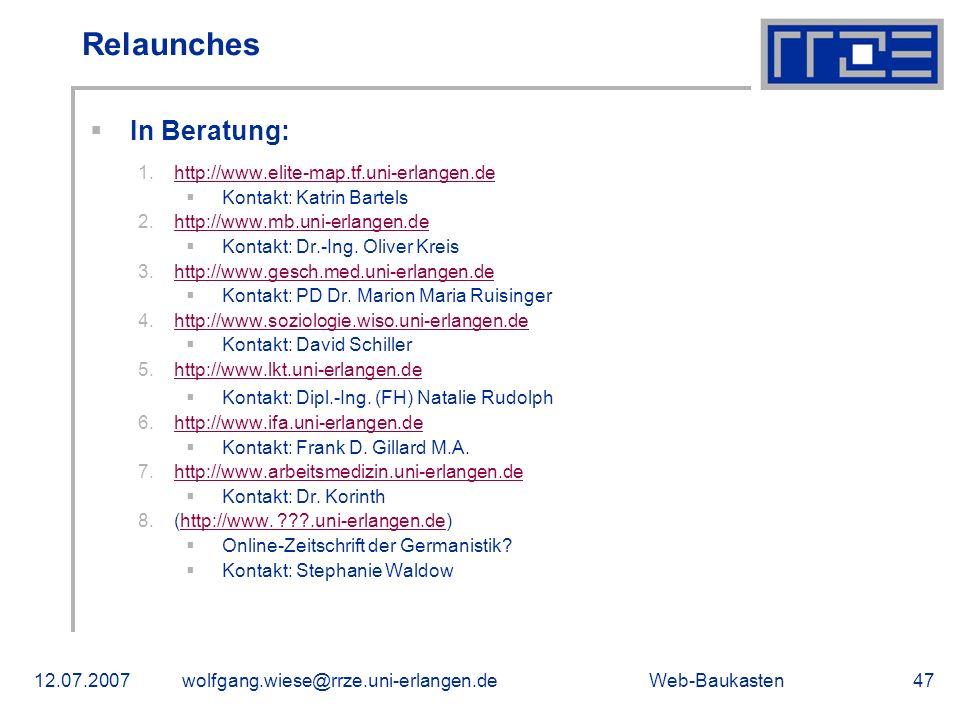 Relaunches In Beratung: http://www.elite-map.tf.uni-erlangen.de
