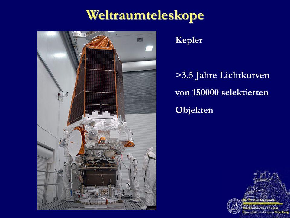 Weltraumteleskope Kepler >3.5 Jahre Lichtkurven