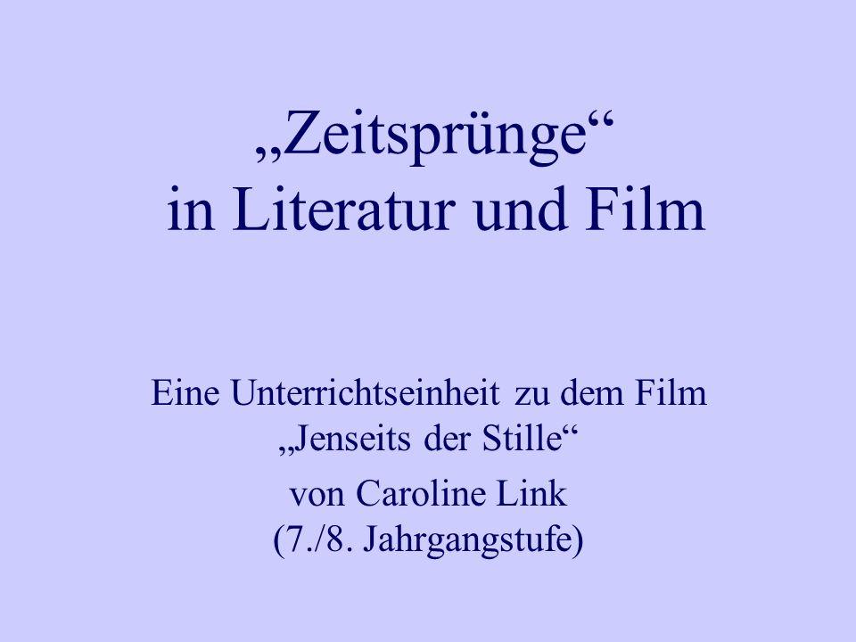 """""""Zeitsprünge in Literatur und Film"""