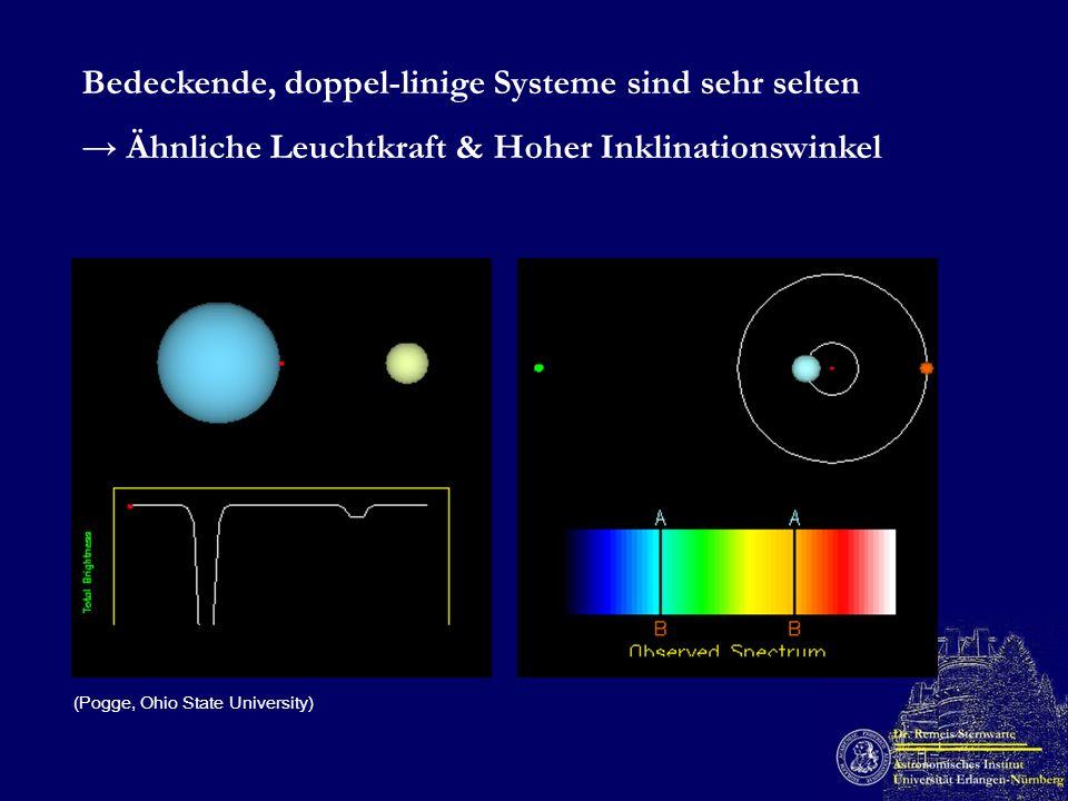 Bedeckende, doppel-linige Systeme sind sehr selten