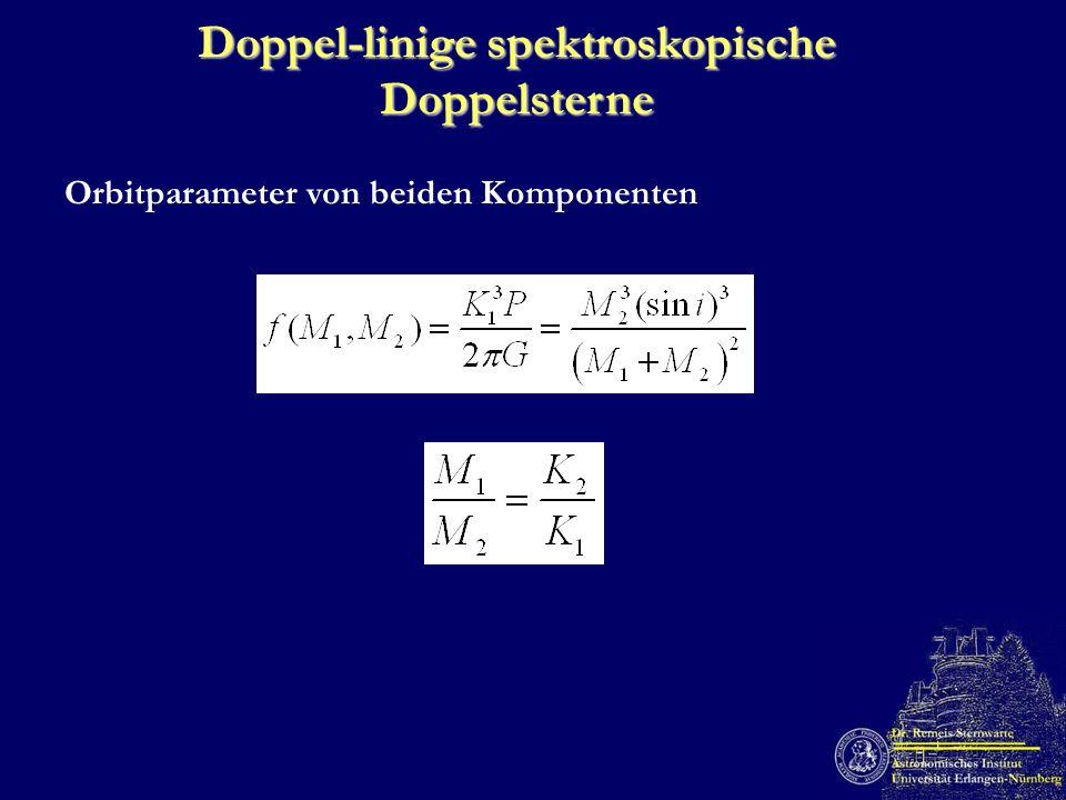 Doppel-linige spektroskopische Doppelsterne