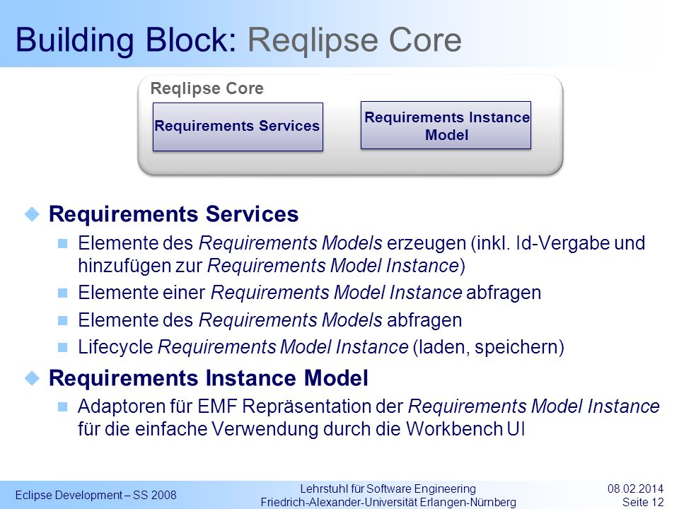 Building Block: Reqlipse Core