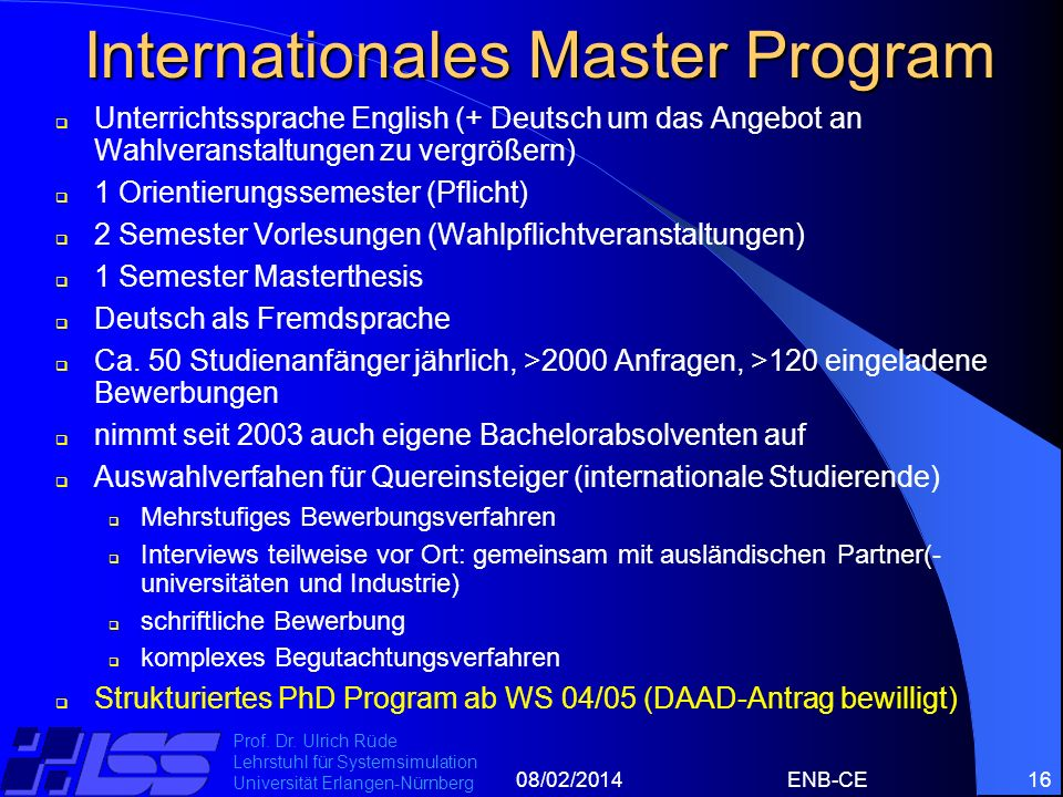 Internationales Master Program