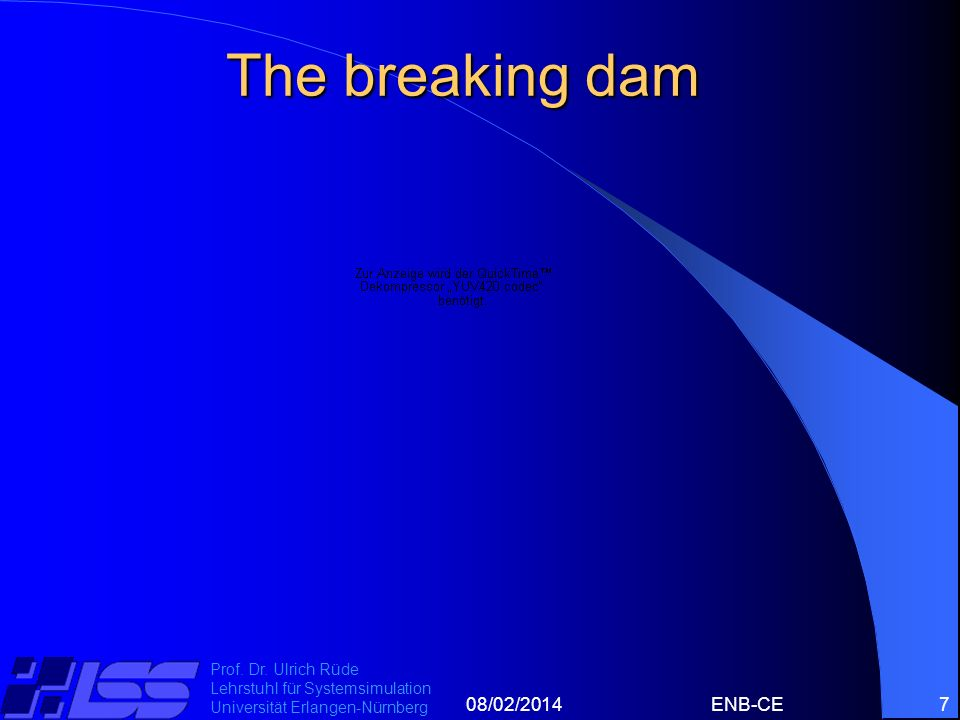 The breaking dam