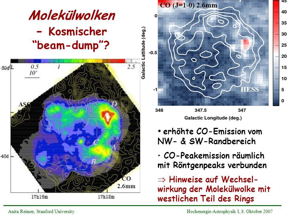 Molekülwolken - Kosmischer beam-dump