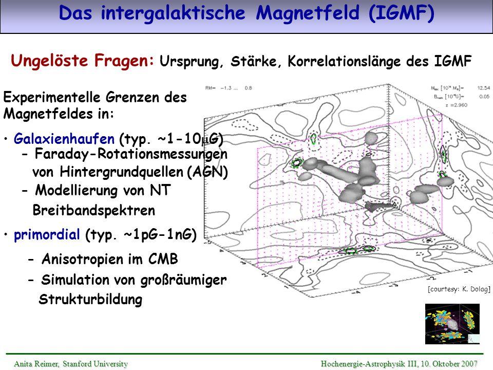 Das intergalaktische Magnetfeld (IGMF)