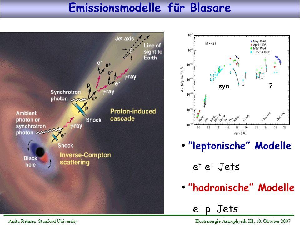 Emissionsmodelle für Blasare