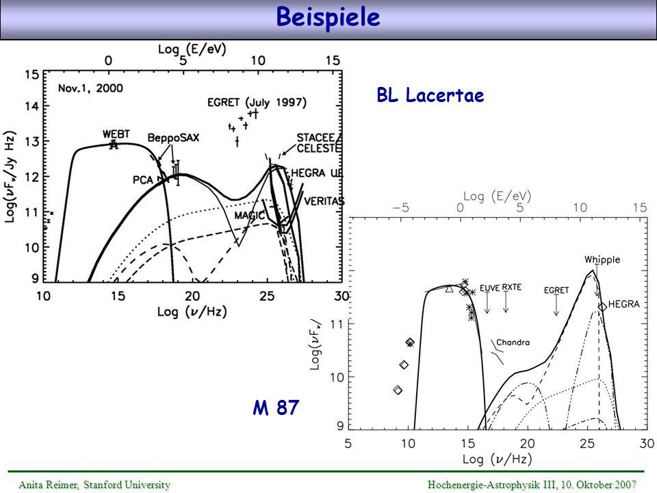 Beispiele BL Lacertae M 87