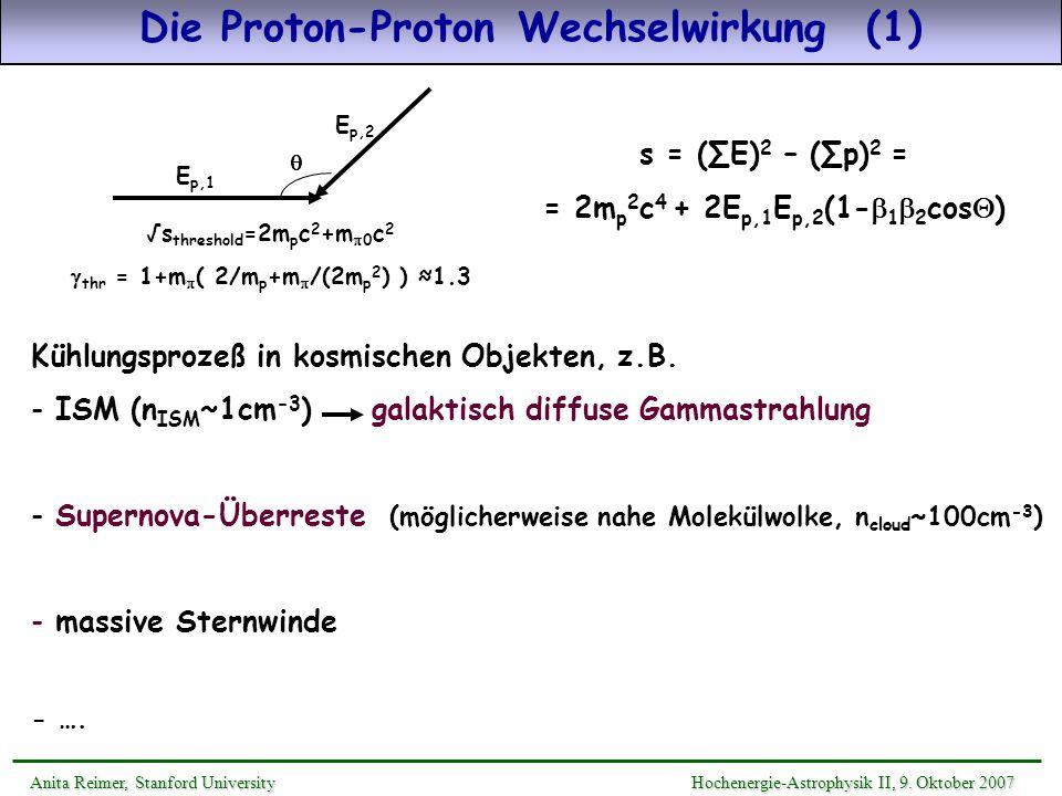 Die Proton-Proton Wechselwirkung (1)