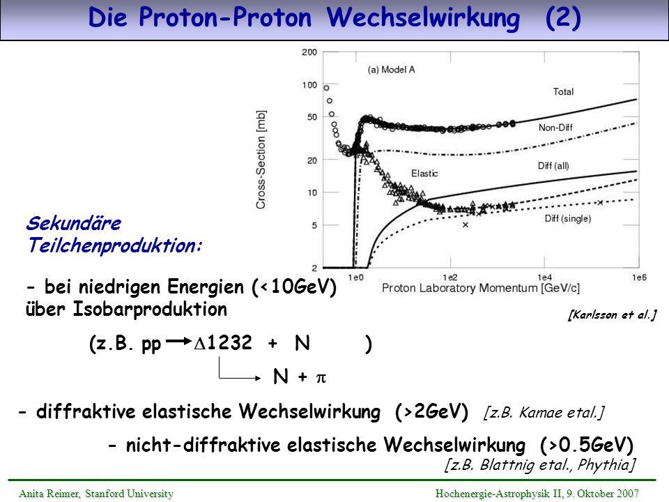 Die Proton-Proton Wechselwirkung (2)