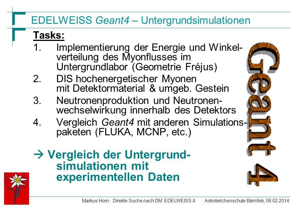 EDELWEISS Geant4 – Untergrundsimulationen