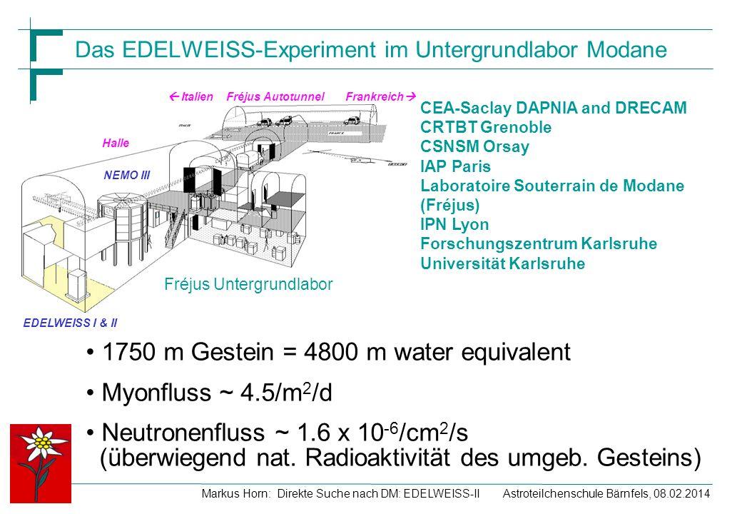 Das EDELWEISS-Experiment im Untergrundlabor Modane
