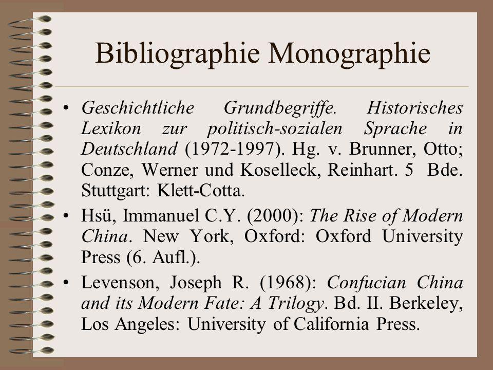 Bibliographie Monographie