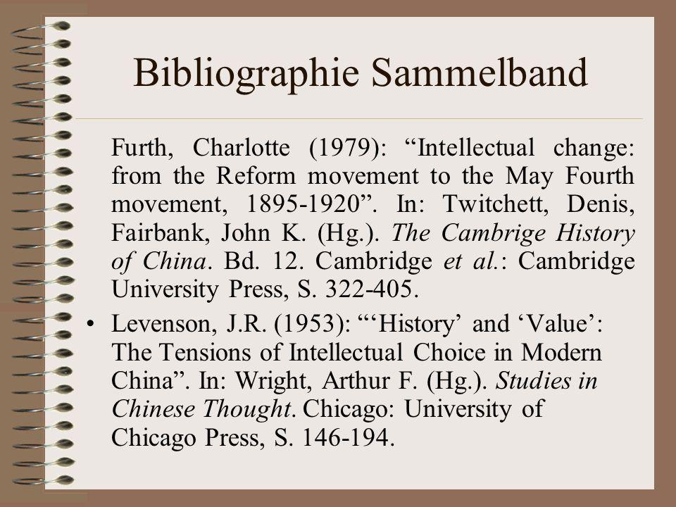 Bibliographie Sammelband