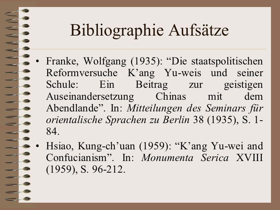 Bibliographie Aufsätze