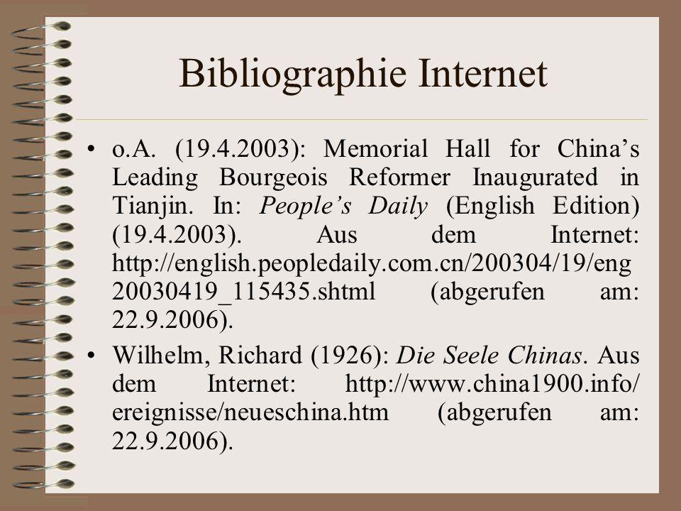 Bibliographie Internet