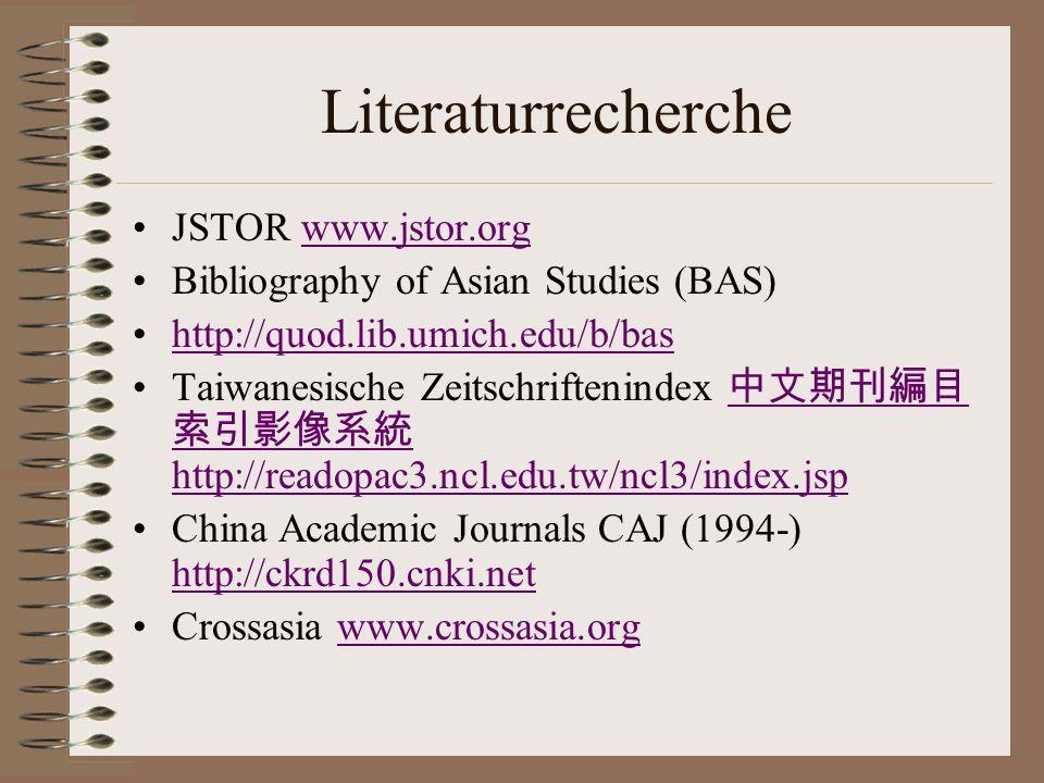 Literaturrecherche JSTOR www.jstor.org