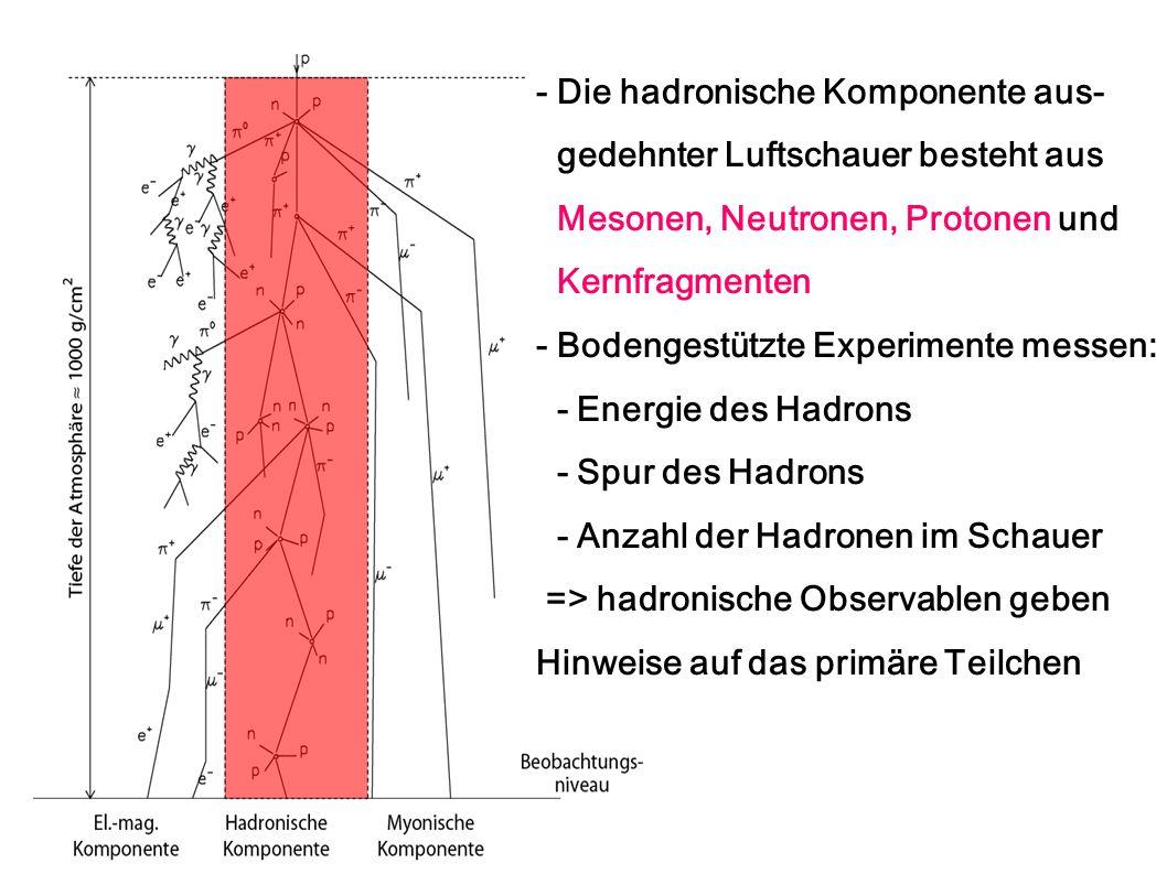- Die hadronische Komponente aus-