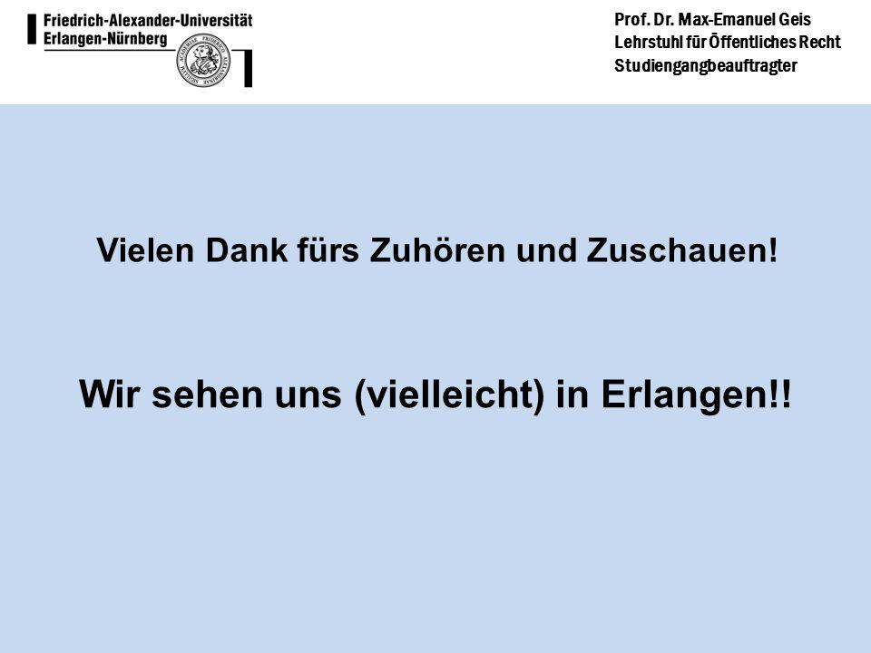 Wir sehen uns (vielleicht) in Erlangen!!