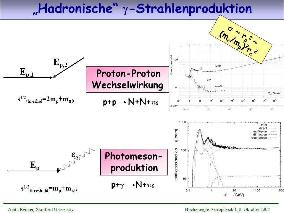 """""""Hadronische g-Strahlenproduktion"""