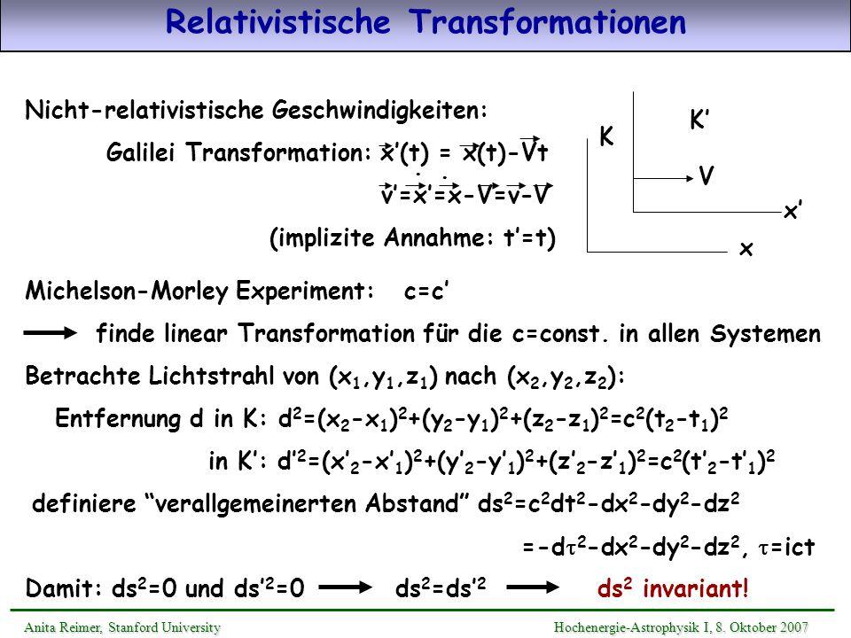 Relativistische Transformationen