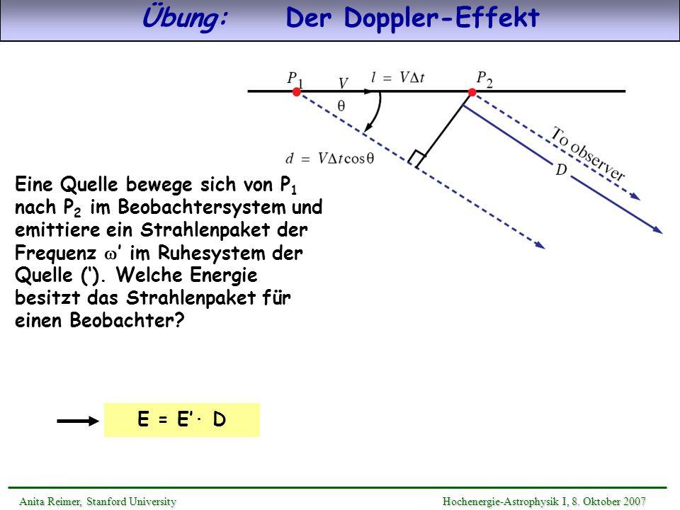 Übung: Der Doppler-Effekt