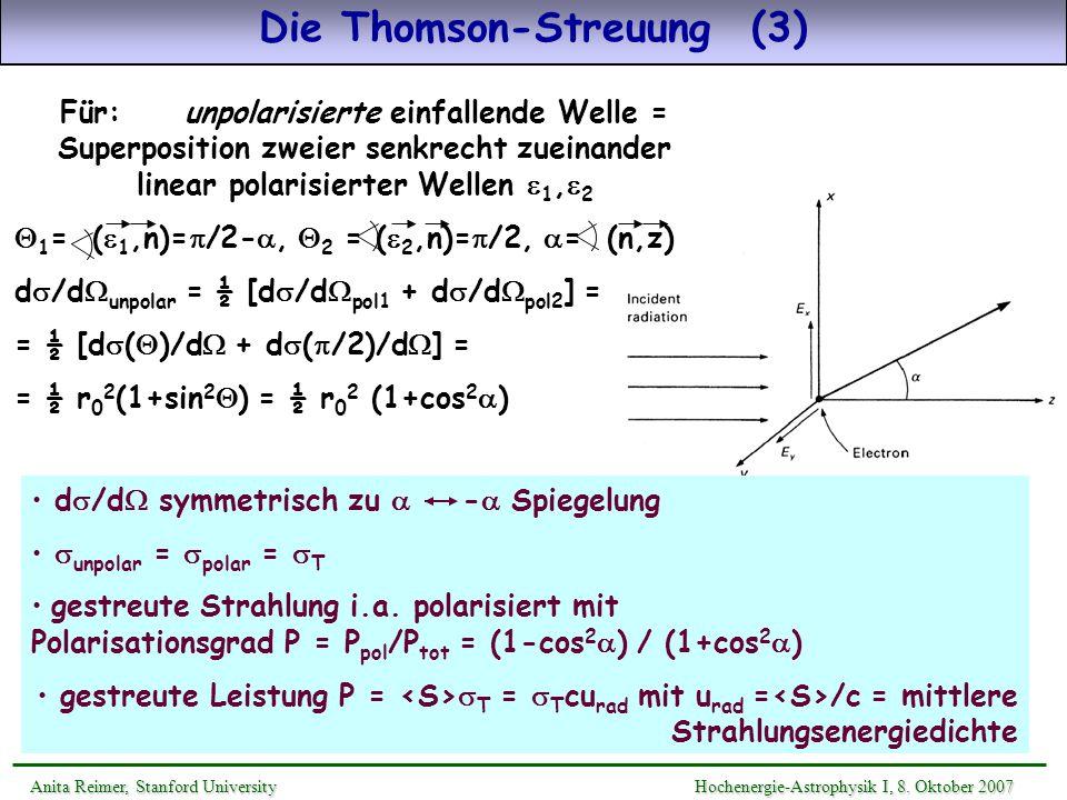 Die Thomson-Streuung (3)